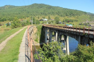 148-й километр КБЖД. Мост через р. Ангасолка. Фото: GorKroko / Panoramio.com