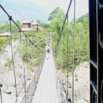 Мост на остров Патмос посреди реки Катунь. Чемал