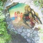 Фреска на камне на острове Патмос среди реки Катунь. Чемал