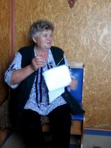 Вера Георгиевна Шляк, бывшая учительница в Островном