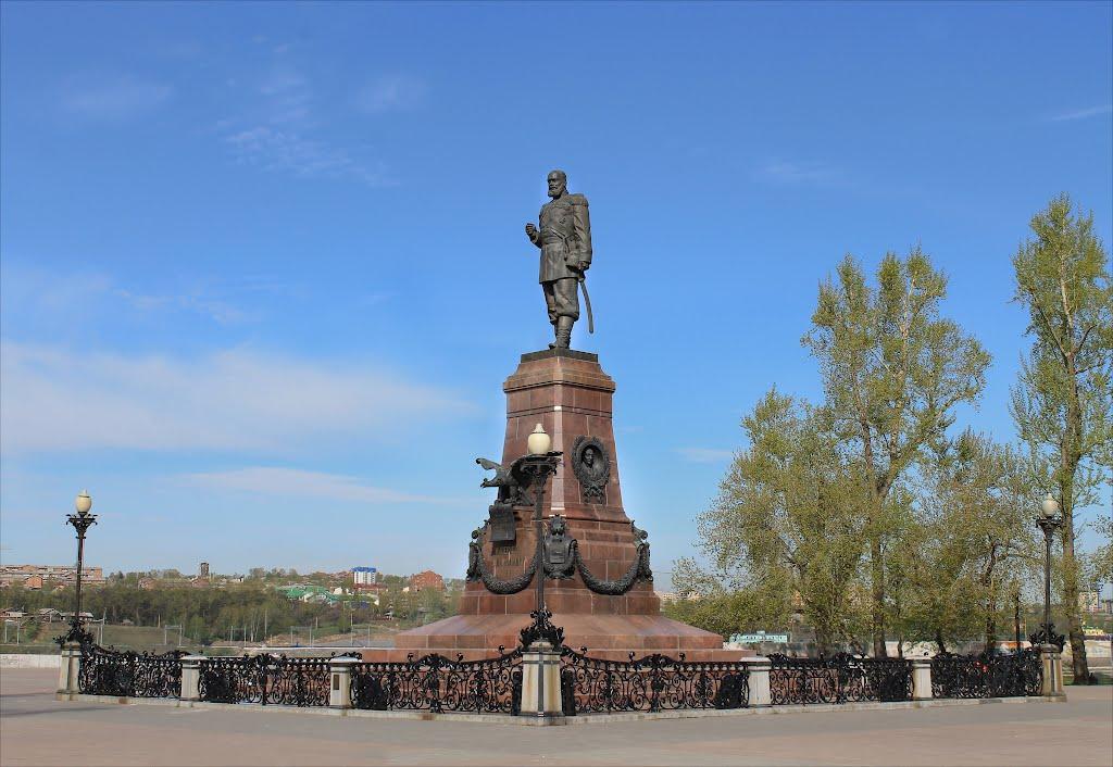Памятник Александру III в Иркутске. Фото: Panoramio.com / mir@cle