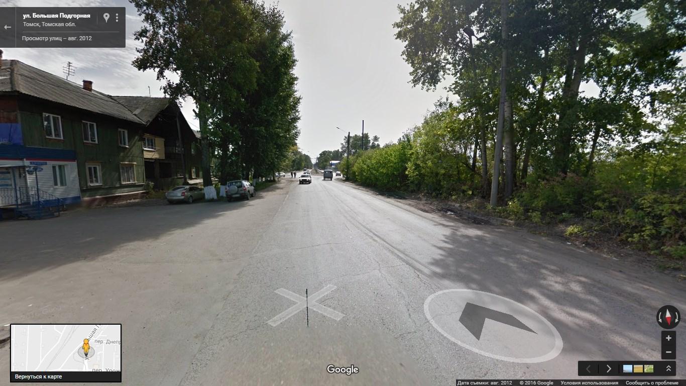 Томск, Черемошники. Изображение: Google Street View, 2012 г.