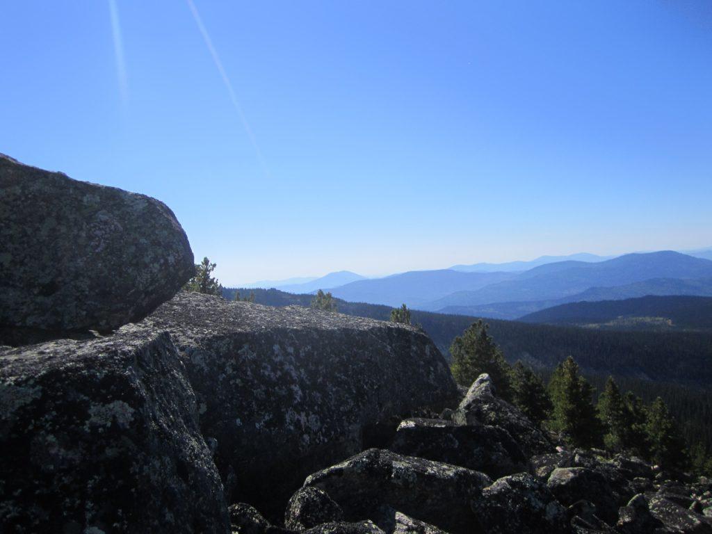 На горе Чебулак, Саяны