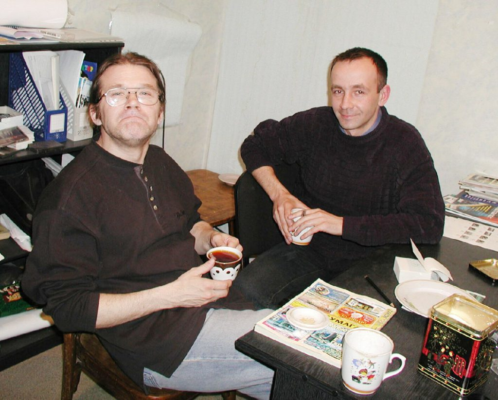 Антон Пляскин с Сергеем Карышевым